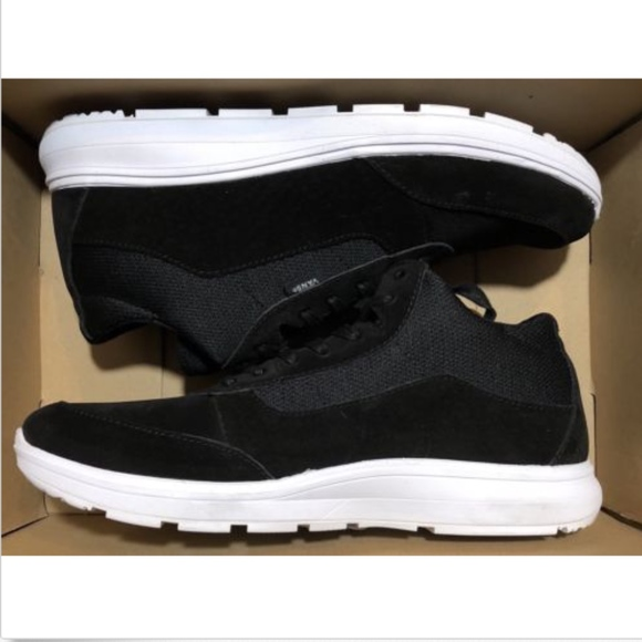 484678ef8cf905 Vans Style 201 Black Suede White Shoes